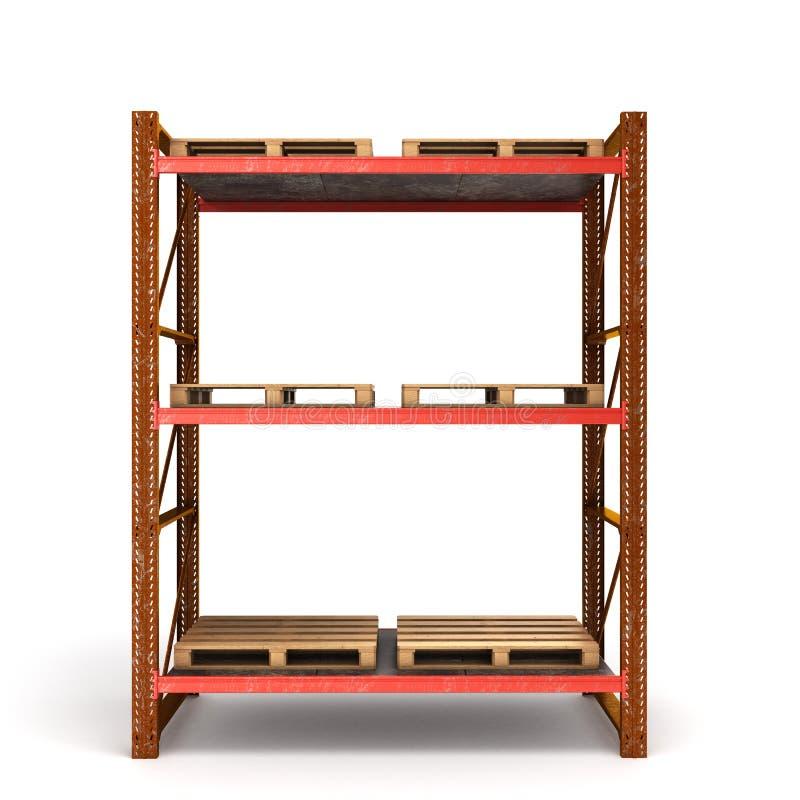 板台的老生锈的棚架有空的平底锅的 皇族释放例证