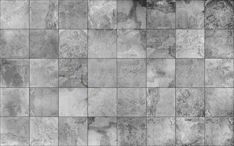 板岩瓦片陶瓷无缝的纹理 库存照片
