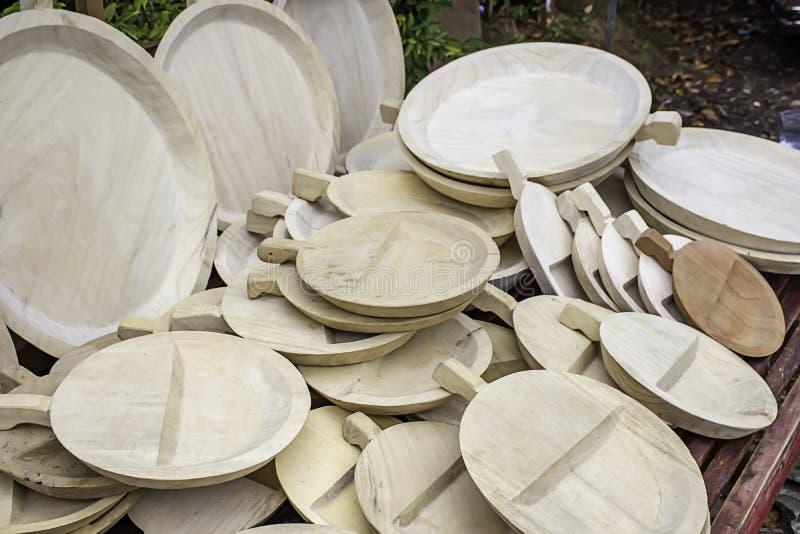 板材在桌做了木头汇集很多 图库摄影