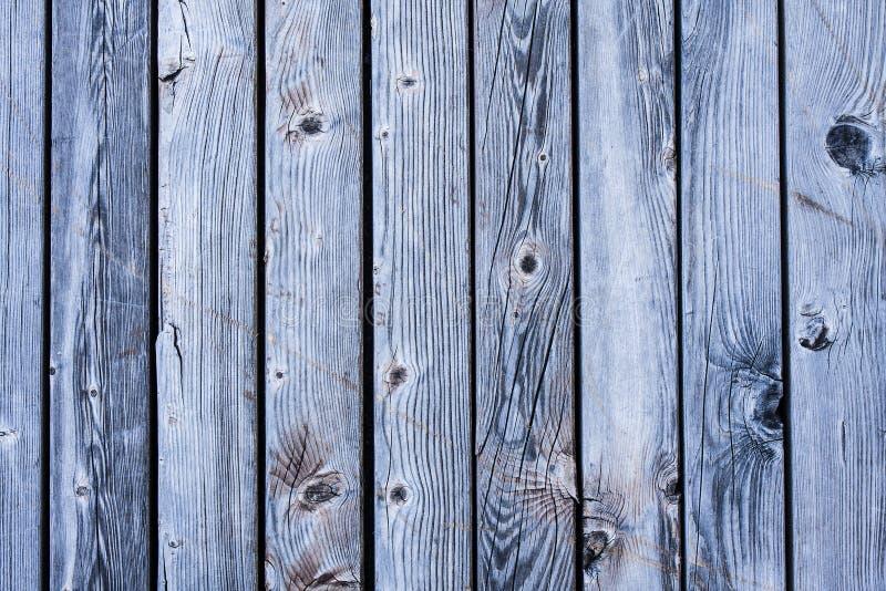 板条明亮的蓝色木纹理背景 免版税图库摄影