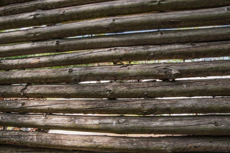 板条篱芭背景 免版税库存照片