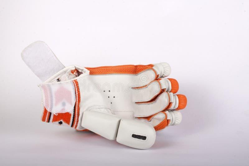 板球运动员蟋蟀手套 库存图片