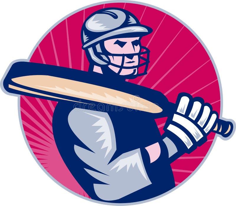 板球运动员蟋蟀球员 皇族释放例证