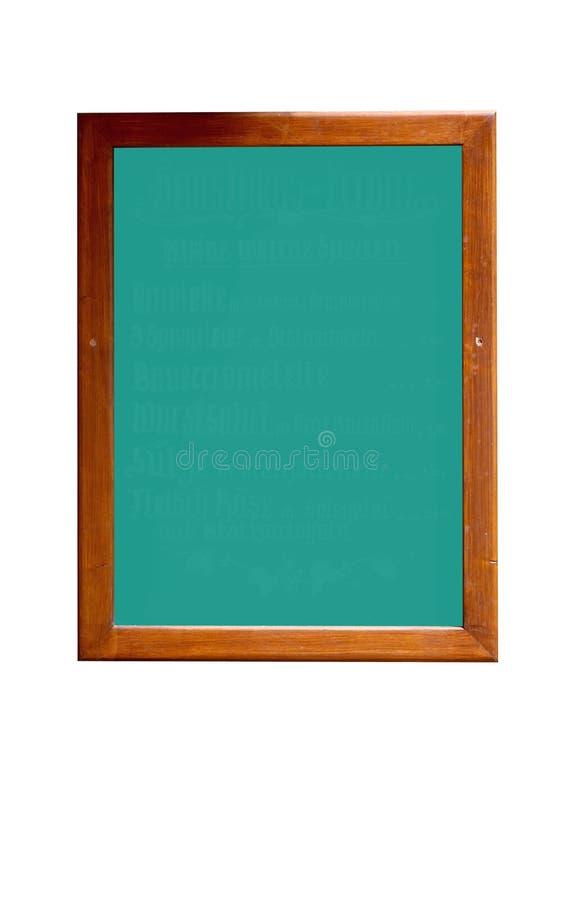 黑板空的绿色 图库摄影