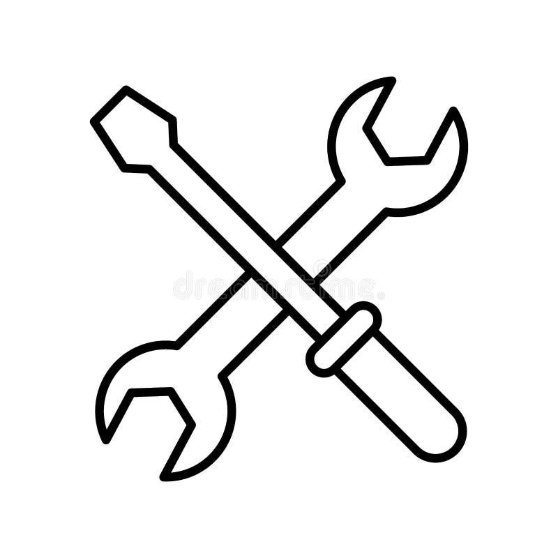 板钳和锤子象 皇族释放例证