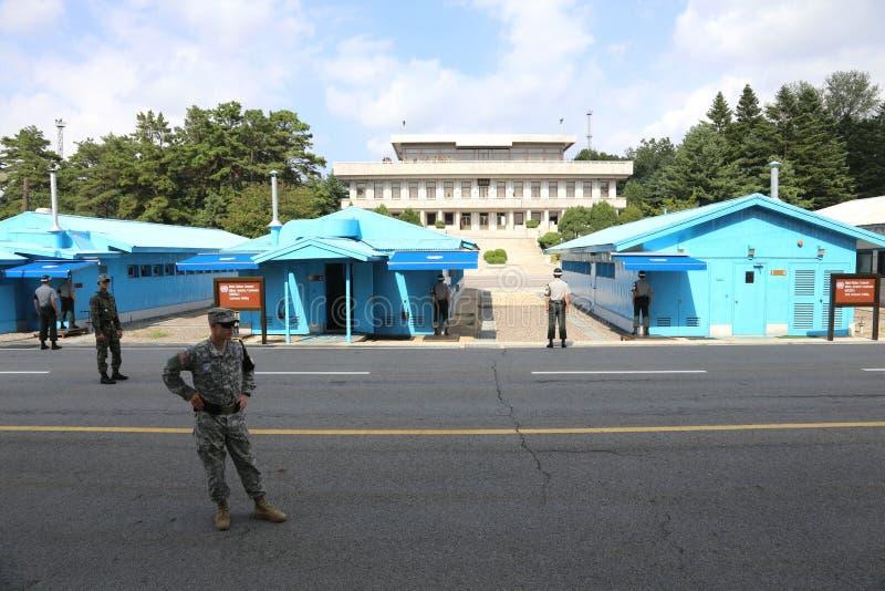 板门店解除军事管制区域韩国 库存图片