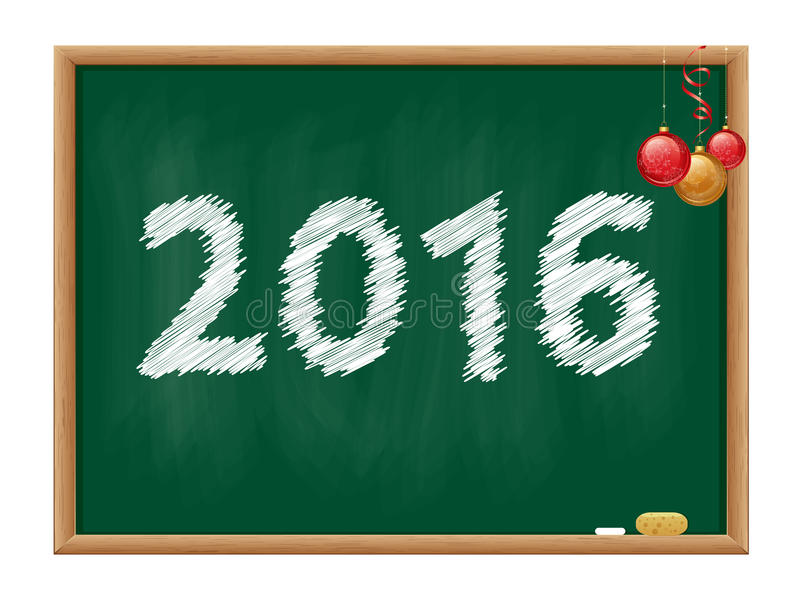 黑板2016年 库存图片