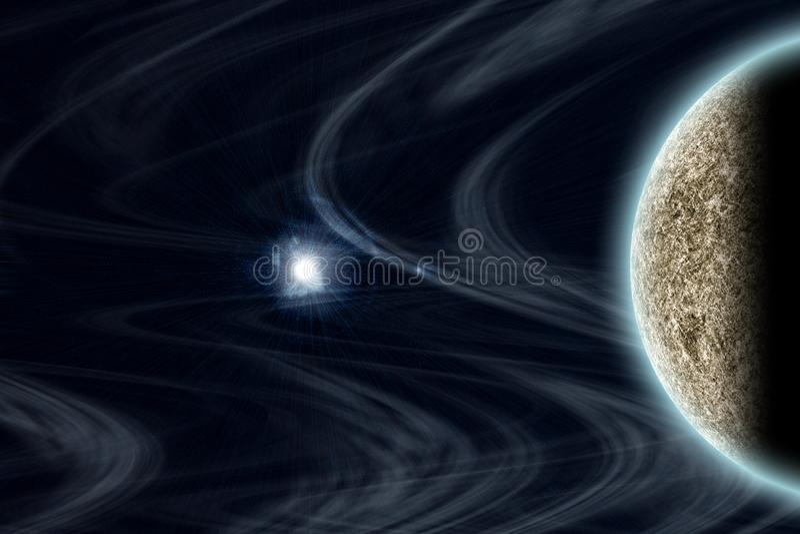 极不寻常的行星和空间 库存例证