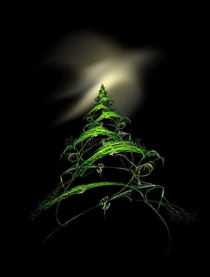 极光圣诞树 皇族释放例证