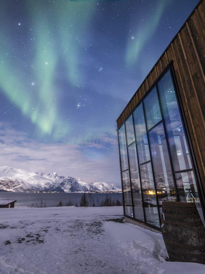 极光精神Tromsø 免版税图库摄影