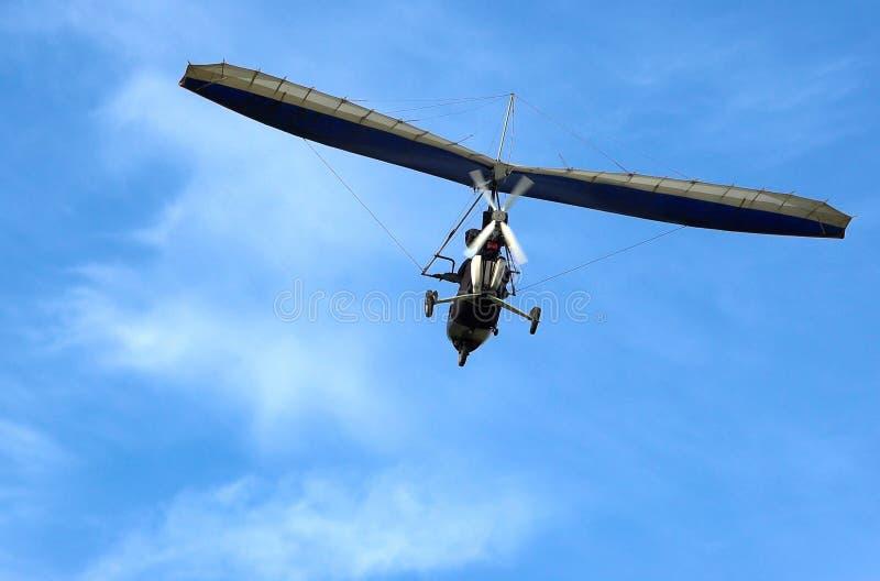 极其动力化的paraglide 库存照片