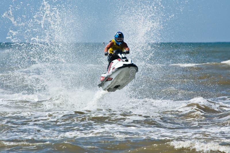 极其喷气机滑雪watersports 库存图片