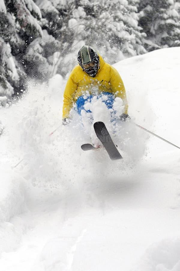 极其滑雪者 库存图片