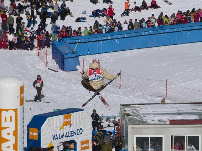 极其滑雪 免版税库存图片