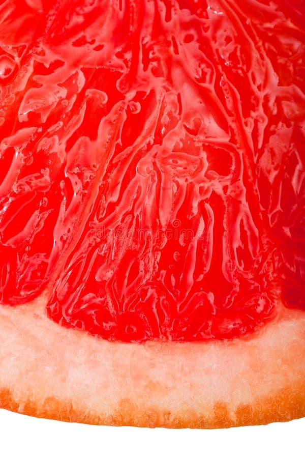 极其葡萄柚查出的宏观红色射击 免版税库存图片