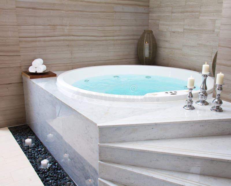 极可意浴缸 免版税库存照片
