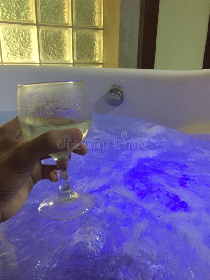 极可意浴缸 库存照片