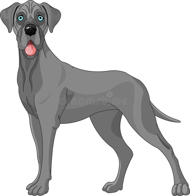 极大丹麦人的狗 库存例证