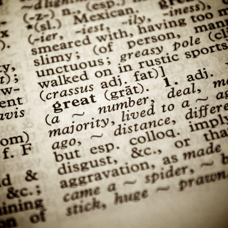 极大定义的词典 免版税图库摄影