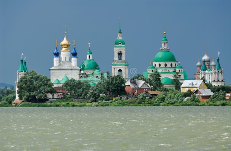 极大的修道院rostov俄国城镇 库存照片