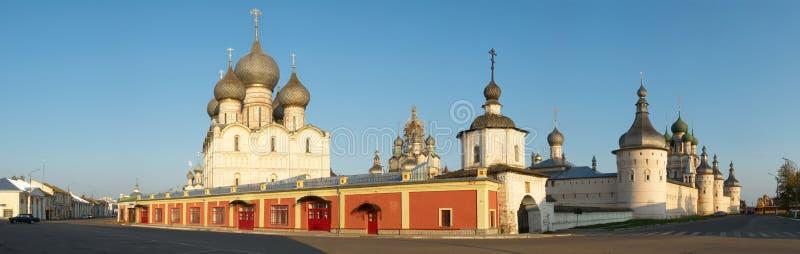 极大的克里姆林宫全景rostov俄国城镇 免版税图库摄影