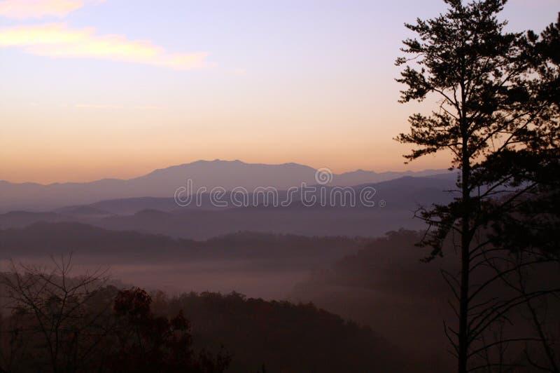 极大的发烟性山的国家公园 免版税库存图片