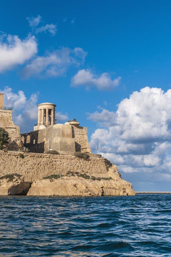 极大的围困纪念品在瓦莱塔,马耳他 库存图片