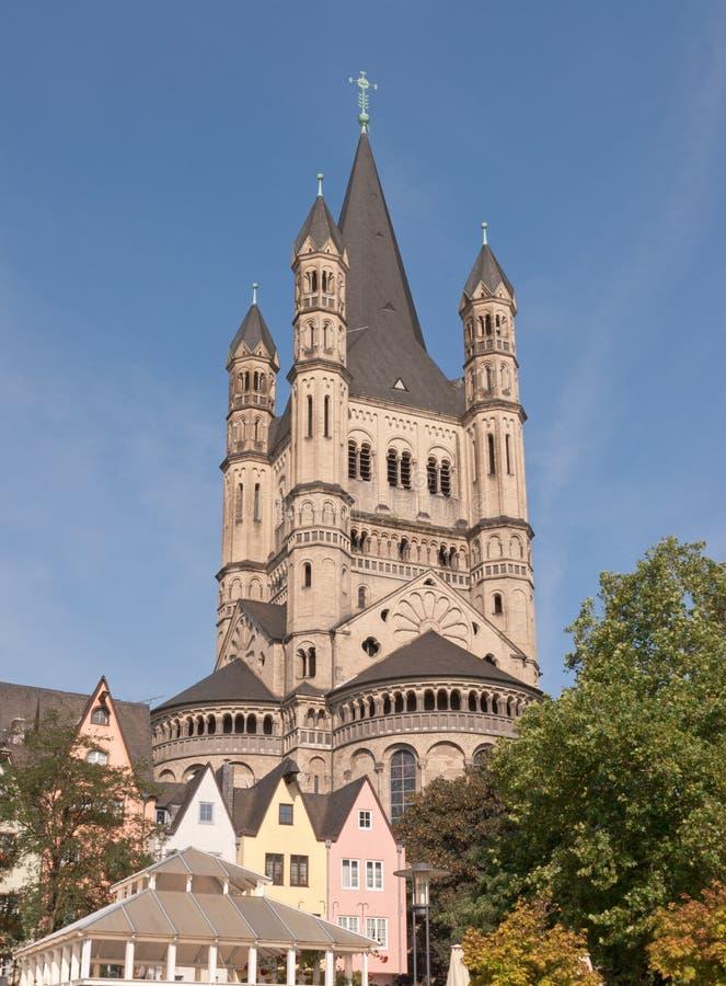 极大的圣马丁教会 库存照片