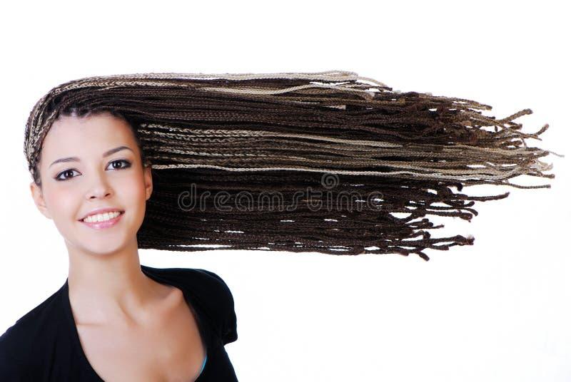 极大的头发 库存照片