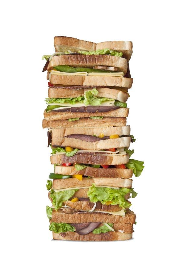 极大的查出的层状多三明治 库存图片