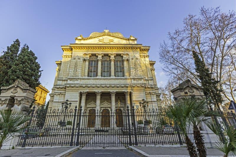 极大的罗马犹太教堂 免版税库存图片