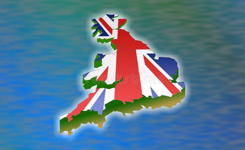 极大的英国 向量例证