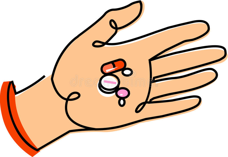 极少数药片 向量例证