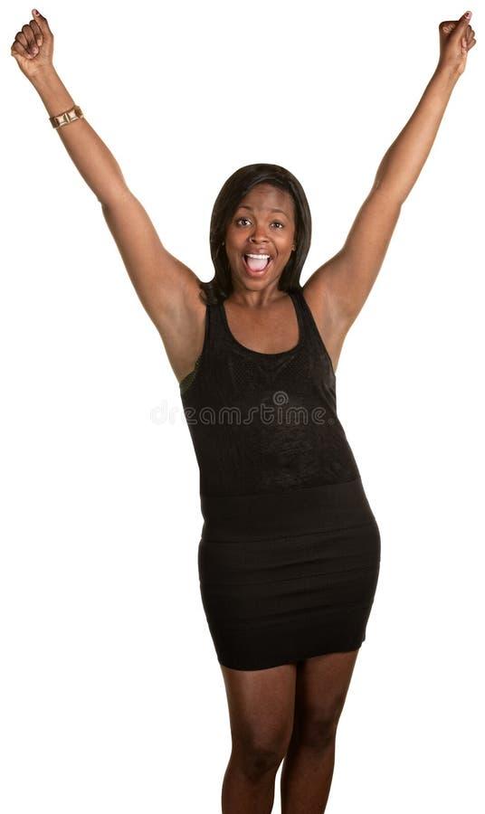 极度高兴的妇女 库存图片
