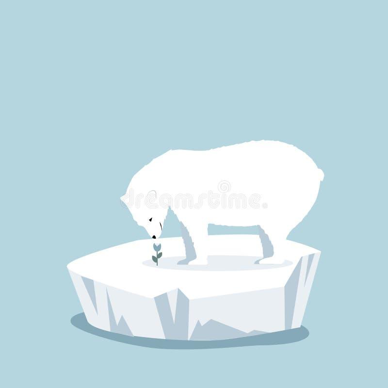 极性涉及与花的冰川 皇族释放例证