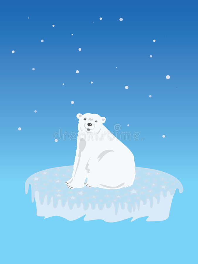 极性熊的冰山 免版税库存图片