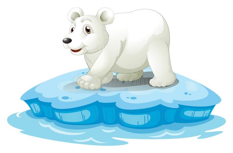 极性熊的看起来 皇族释放例证