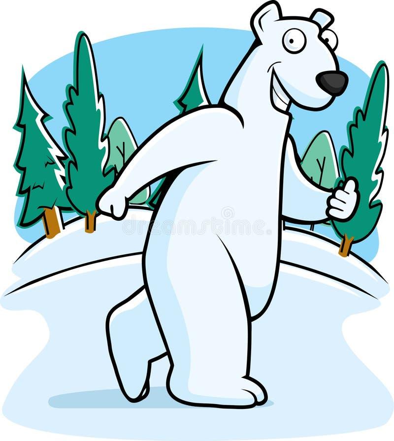 极性的熊 向量例证