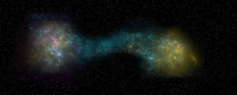 极端两合并的星系的详细和现实高分辨率例证 从空间的射击 皇族释放例证