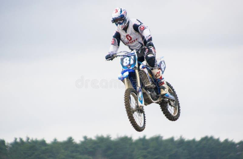 极端体育摩托车越野赛竞争 库存照片