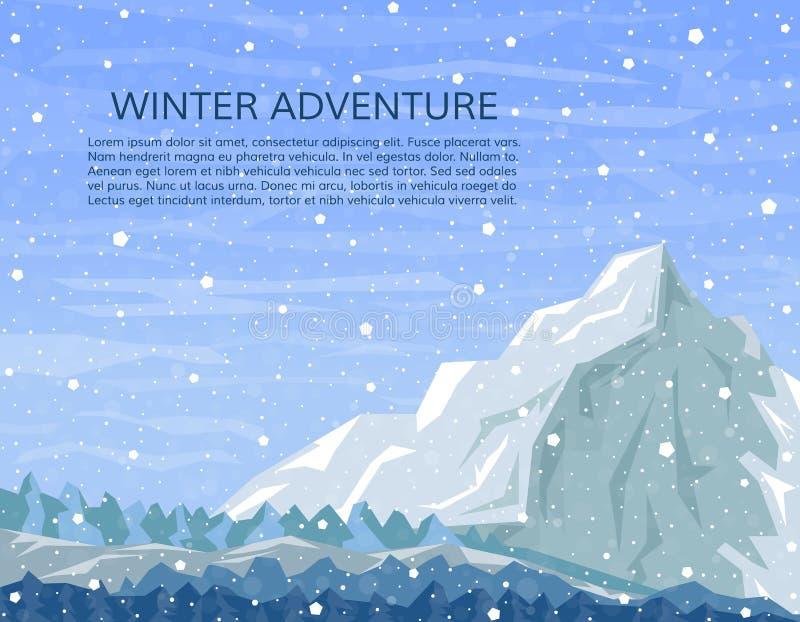 极端冬季体育或室外假期横幅 皇族释放例证