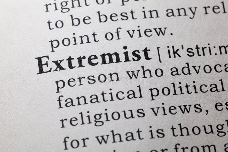 极端分子的定义 免版税图库摄影