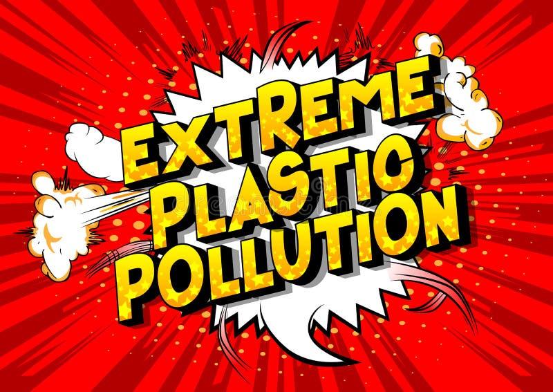 极端塑料污染-漫画样式词 皇族释放例证