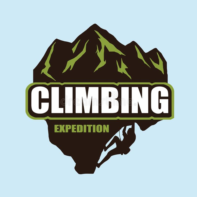 极端攀岩商标 向量例证