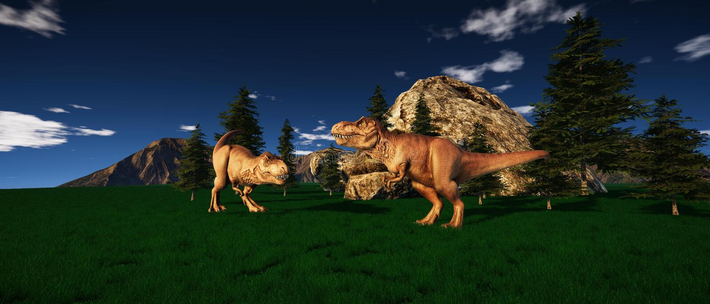 极端T雷克斯恐龙的详细和现实高分辨率3d例证在侏罗纪时代 向量例证