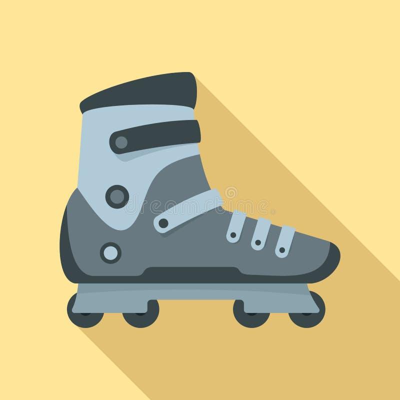 极限运动轴向冰鞋象,平的样式 库存例证