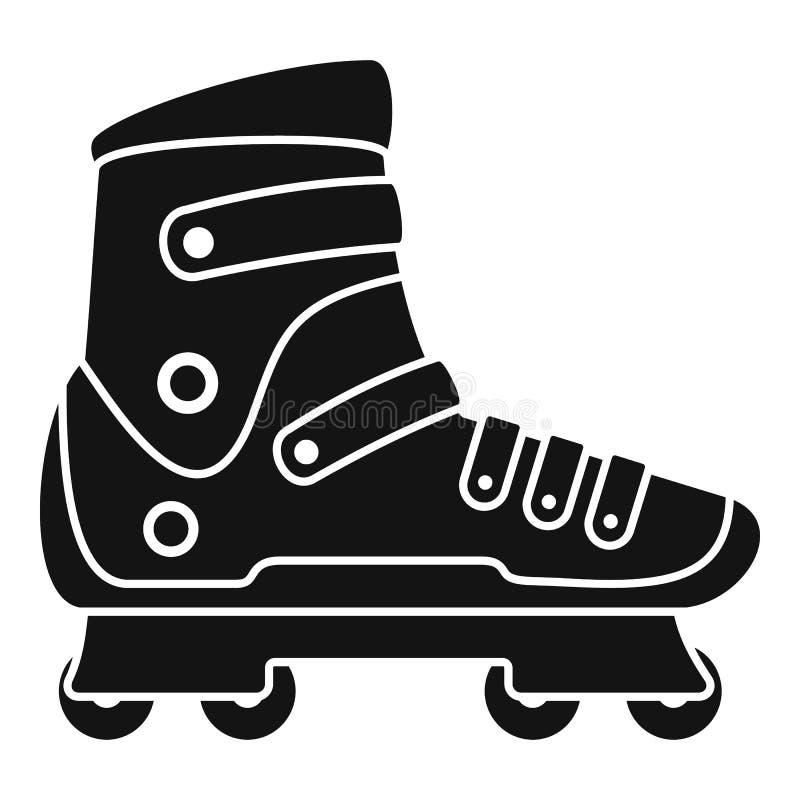 极限运动轴向冰鞋象,简单的样式 皇族释放例证