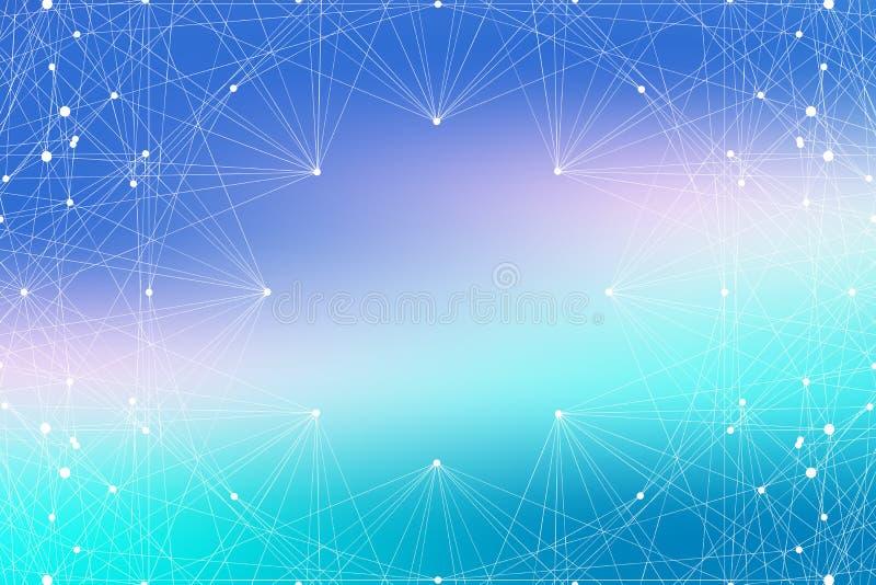 结构分子作为概念的脱氧核糖核酸研究 基因微粒化合物 科学技术背景通信 向量例证