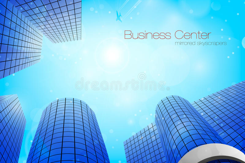 结构商务中心例证主题 也corel凹道例证向量 库存例证