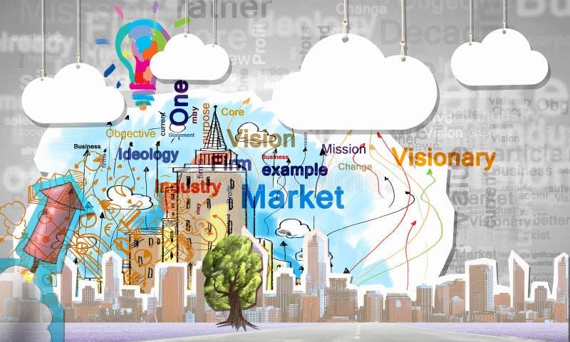 结构商务中心例证主题 向量例证
